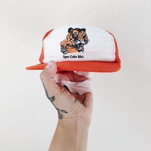 Vintage Boy Scouts Snapback 90s Tiger Cubs Hat